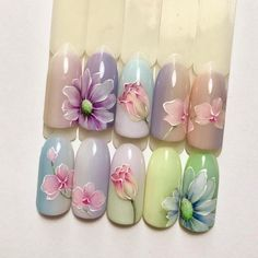 The 50 most beautiful nail art for all occasions – Glamour. Manicure Nail Designs, Nail Manicure, Nail Art Designs, Nail Art Blog, Gel Nail Art, Beautiful Nail Designs, Beautiful Nail Art, Spring Nails, Summer Nails