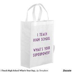 Ik onderwijs Middelbare school wat Uw Super Macht Herbruikbare Boodschappentassen