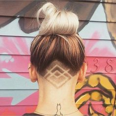 Undercut Tattoos Are the Sneakiest Way to Add Flair to Your Hair. Womens Updo Undercut Hairstyles with Hair Tattoos. Hair Tattoo More. Womens Long Undercut Hairstyles with Hair Tattoos. Shaved Undercut, Undercut Long Hair, Undercut Women, Undercut Hairstyles, Cool Hairstyles, Undercut Girl, Shaved Hairstyles, Latest Hairstyles, Wedding Hairstyles