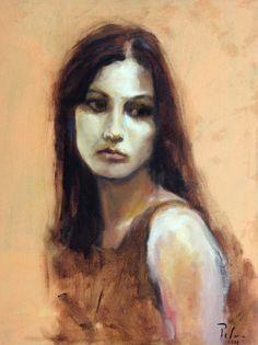 "Portrait: "" Aryelle "" Oil on canvas - 60x 45cm Model: My dear friend and model for many years Aryelle Cardoso ( Great Architectic) Painter : Fernando Palma  Belo Horizonte - MG - Brazil"