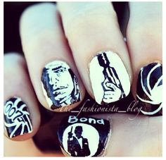 007 James Bond theme nails