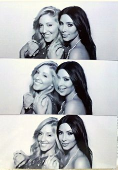 Kim and Leah at kimye's wedding