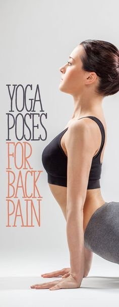 Yoga for back pain. Here are ten great yoga poses for back pain. Many people suffer from back pain, whether it's a result of an accident, poor posture, or they simply spend too much time hunched over their computer watching cat videos. Yoga Poses For Back, Yoga For Back Pain, Hiit, Yoga Fitness, Health Fitness, Workout Fitness, Health Exercise, Exercise Motivation, Middle Back Pain