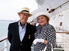 Hyacinth Bucket- The cruise episode was probably my favorite, Hyacinth had a gazillion pieces of luggage and she had her poor husband moving them all about! It was hilarious!! Love this show!