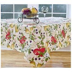 Everyday Fruits Vinyl Tablecloth, 70 W X 52 D