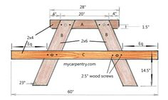 Picnic table and bench plans free plus picnic table assembly instructions picnic table ideas Kids Picnic Table Plans, Build A Picnic Table, Wooden Picnic Tables, Backyard Picnic, Pallet Garden Furniture, Outdoor Furniture Plans, Diy Storage Bench, Diy Farmhouse Table, Woodworking Projects That Sell