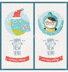 happy new year card vector by tatishdesign on vectorstock happy new year cards happy