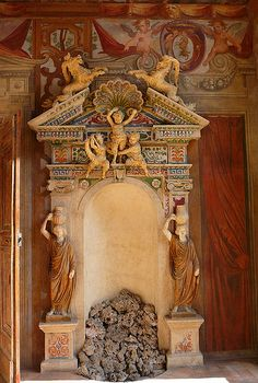 Fountain; Palazzo Altemps; Rome, Italy.