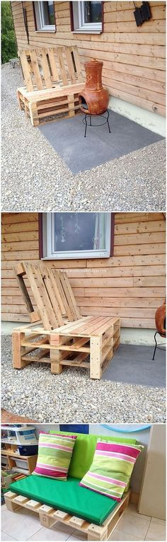 Awesome Wood Pallet DIY Projects You Can Try Today – Wooden Pallet Ideas, Impresionantes proyectos de bricolaje de … Pallet Garden Benches, Wood Pallet Planters, Pallet Seating, Pallet Chair, Wooden Pallets, Pallet Ideas, Pallet Designs, Pallet Projects, Modern Wood Furniture