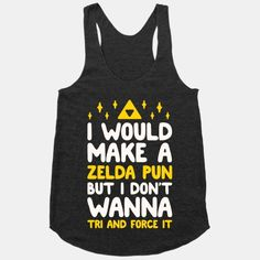 Show off your nerdy, gamer side with this pun-ny triforce design.
