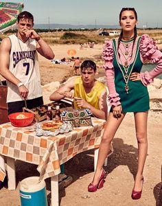 """Bella At The Beach"" Bella Hadid by Giampaolo Sgura for Vogue Japan November 2016"