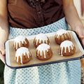 Apple-Cardamom Cakes with Apple Cider Icing
