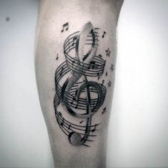 80 Violinschlüssel Tattoo Designs für Männer - Musical Ink-Ideen - http://tattoosideen.com/2016/06/25/80-violinschlussel-tattoo-designs-fur-manner-musical-ink-ideen/