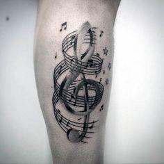 80 Violinschlüssel Tattoo Designs für Männer - Musical Ink-Ideen - http://tattoosideen.com/2016/06/25/80-violinschlussel-tattoo-designs-fur-manner-musical-ink-ideen/