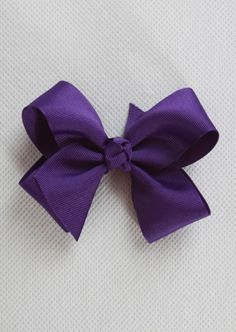 Game day bow, purple