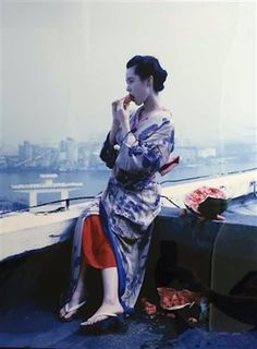 Geisha with Watermelon, 2013 by Nobuyoshi Araki. Archival c-print. ed. of 10. 60 x 40 inches. #nobuyoshiaraki #photography #art #artforsale