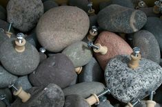Rock Drawer Pulls from Lake Superior by Naturallyuniquerock