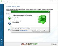 Auslogics Registry Defrag 9.2.1.0  Auslogics Registry Defrag--Auslogics Registry Defragについて--オールフリーソフト