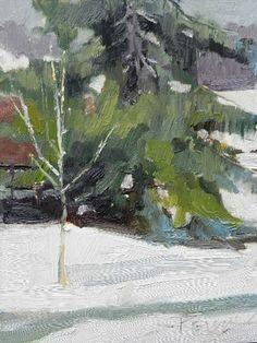 Robin Weiss   Winter Fir plein air oil landscape painting by Robin Weiss   http://www.dailypainters.com/paintings/241228/Winter-Fir-plein-air-oil-landscape-painting-by-Robin-Weiss/Robin-Weiss