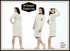 Leslie Fay Petite career preppy dress Vintage LS pencil wiggle size 8   revampedcouture - Clothing on ArtFire