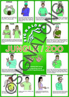 Jungle/Zoo Poster, J) Posters, Signalong Store