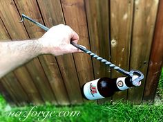 Excited to share this item from my shop: BBQ TOOL Steak Flipper with Bottle Opener - Hand Forged Grill Tool - Outdoor Grilling Cooking Accessory - Gifts for Men - Man - Naz Forge Horseshoe Projects, Metal Projects, Blacksmith Hammer, Blacksmithing Knives, Personalized Bottle Opener, Blacksmith Projects, Open Hands, Fireplace Tools, Bbq Tools