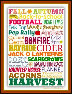 FREEBIE Fall/Autumn Subway Art Bucket List Printable at RainbowsWithinReach