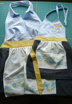 upcycled child's apron