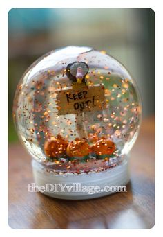 DIY Halloween Snow Globe