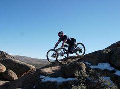 Handicapped mountain biking. Badass