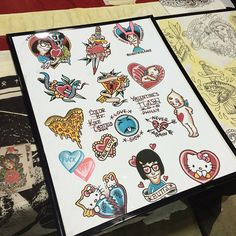 And for these like me that doesn't have a date today ! Come and get tattoo . Valentine's flash all day