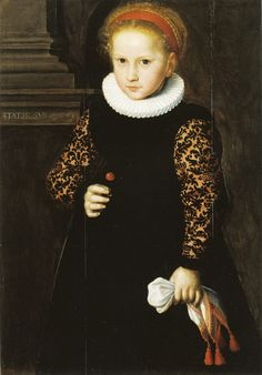Jan Claesz, 1594 - - - Six-Year-Old Girl 1594