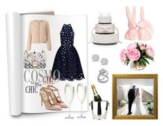 """""""Wedding"""" by malinandersson on Polyvore featuring Valentino, Chi Chi, Nümph, Bling Jewelry, Effy Jewelry, Lauren Conrad, Crate and Barrel, Winco and Kate Spade"""