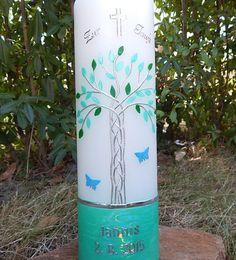 Taufkerze   von Lenz  Kerzen auf DaWanda.com
