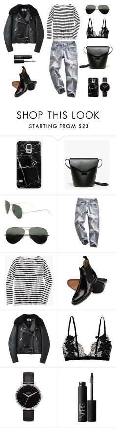 """""""Unbenannt #499"""" by fashionlandscape ❤ liked on Polyvore featuring Casetify, Loeffler Randall, Ray-Ban, J.Crew, Charles Tyrwhitt, Acne Studios, Nixon and NARS Cosmetics"""