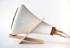 Joey Roth ceramic speakers + amp