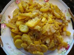 Stewed Summer Squash and Onions
