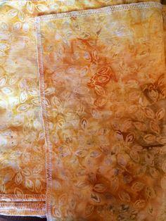 Bengkung Belly Binding - Gold Tossed Leaves Batik by AVDoula, $80.00