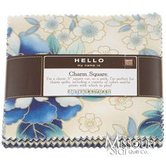 Imperial Collection 10 Blue Charm Pack from Missouri Star Quilt Co