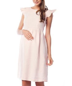 Crafted from cool cotton, this lovely maternity dress boasts a flattering empire waist, cap sleeves, plus cutout and tie details in back for intrigue. Plus Size Maternity Dresses, Plus Size Pregnancy, Stylish Maternity, Stretch Fabric, Cap Sleeves, Sunnies, Curves, Cold Shoulder Dress, Summer Dresses