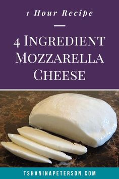 This step-by-step tutorial shows how to make homemade mozzarella cheese in ONE HOUR (including clean-up). Let me show you how easy this recipe is to make! Milk Recipes, Cheese Recipes, Cooking Recipes, Dairy Recipes, Fondue Recipes, Bread Recipes, Yummy Recipes, Dinner Recipes, Make Mozzarella Cheese