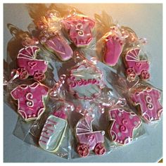 Baby shower cookies for girls
