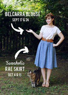 belcarra blouse sewaholic rae skirt