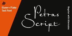 Petras Script EF™ - Webfont & Desktop font « MyFonts