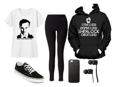 """•Sherlock #2•"" by romadee ❤ liked on Polyvore featuring Miss Me, Miss Selfridge and Vans"
