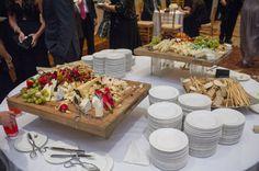 Kabbalat panim cheese and fruit board before ceremony found on Modern Jewish Wedding Blog // Jeff Kolodny Photography, Inc. Wedding Reception Appetizers, Wedding Blog, Wedding Ideas, Mini Burgers, Food Truck, Catering, Cheese, Fruit, Board