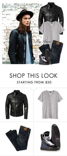 """""""Man Fashion"""" by anne-977 ❤ liked on Polyvore featuring Tiger of Sweden, H&M and American Eagle Outfitters"""