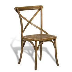 Sarreid Large Cane Chair Set of 2 SA-27741