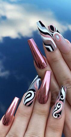 Top 100 acrylic nail designs from May Page 36 - Nails - . - Top 100 acrylic nail designs from May Page 36 – Nails – - French Nail Designs, New Nail Designs, Acrylic Nail Designs, Coffin Nail Designs, Blog Designs, Long Nail Art, Long Nails, Short Nails, Fabulous Nails