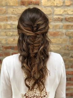 fishtail braid + waves | hairstyle by goldplaited